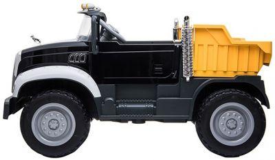 Accu Mack Truck Zwart Metallic 12V 2 Persoons 2,4g Rubber Banden-2