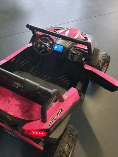 Accu Auto Mega Buggy 4X4 24V 2 Persoons Roze MP4 Rubber Band-2