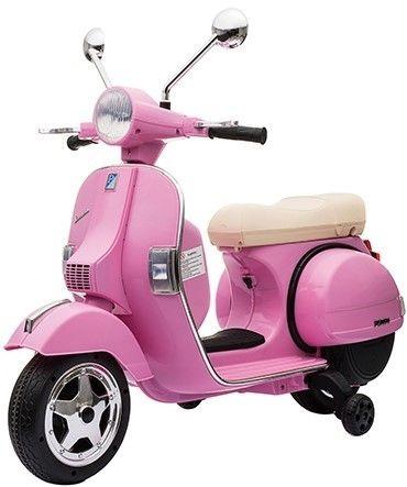 Accu Vespa PX150 Scooter 12V Roze Rubber Banden