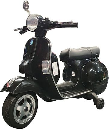 Accu Vespa Scooter PX150  12V Zwart Rubber Banden