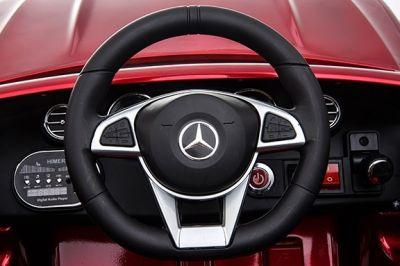 Accu Auto Mercedes C63s-AMG Blauw Metallic 12V Rubber Banden-3