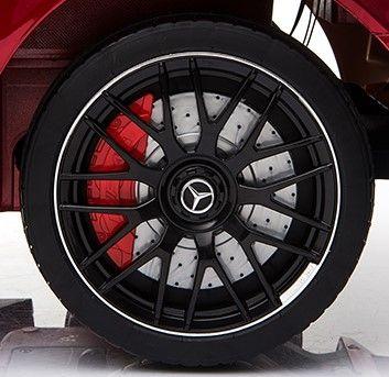 Accu Auto Mercedes C63s-AMG Roze Metallic 12V Rubber Banden-12