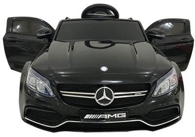 Accu Auto Mercedes C63s-AMG Zwart Metallic 12V Rubber Banden-4