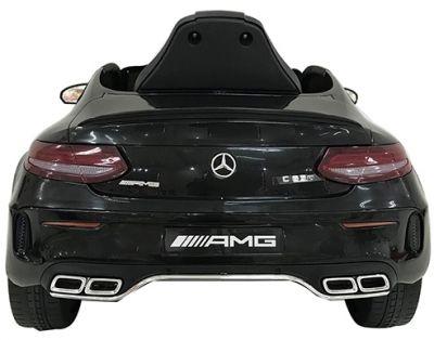 Accu Auto Mercedes C63s-AMG Zwart Metallic 12V Rubber Banden-6
