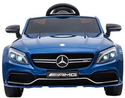 Accu Auto Mercedes C63s-AMG Blauw Metallic 12V Rubber Banden-1