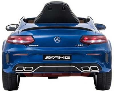 Accu Auto Mercedes C63s-AMG Blauw Metallic 12V Rubber Banden-2