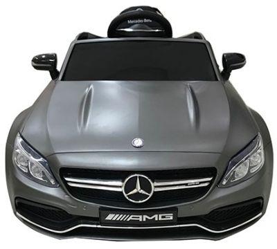 Accu Auto Mercedes C63s-AMG Mat Grijs 12V Rubber Banden-1