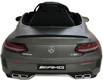 Accu Auto Mercedes C63s-AMG Mat Grijs 12V Rubber Banden-2