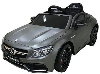 Accu Auto Mercedes C63s-AMG Mat Grijs 12V Rubber Banden