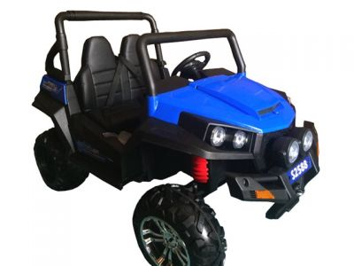 Accu Auto Cross Country XL 4X4  Blauw 2 Persoons Rubber Banden