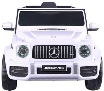 Accu Auto Mercedes G63 AMG Wit 12V 2,4G Rubber Banden
