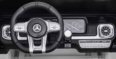 Accu Auto MERCEDES G63-AMG 4X4 Wit 2 Persoons Rubber Banden-3