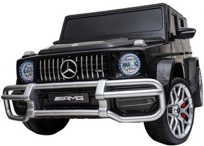 Accu Auto MERCEDES G63-AMG 4X4 Zwart Metallic 2 Persoons Rubber Banden-1