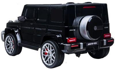 Accu Auto MERCEDES G63-AMG 4X4 Zwart Metallic 2 Persoons Rubber Banden-2