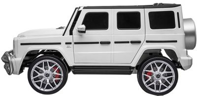 Accu Auto MERCEDES G63-AMG 4X4 Wit 2 Persoons Rubber Banden-1