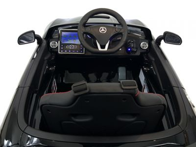 Accu Auto Mercedes SLS AMG Zwart Metallic 12V MP4-TV Rubber Banden-4
