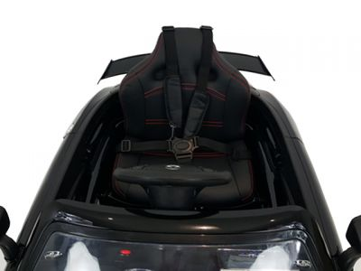 Accu Auto Mercedes SLS AMG Zwart Metallic 12V MP4-TV Rubber Banden-1