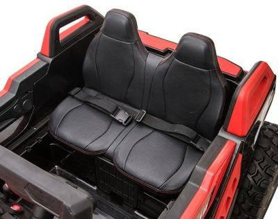 Accu Auto Monster Buggy 4X4 24V 2 Persoons Rood MP4 Rubber Banden-3