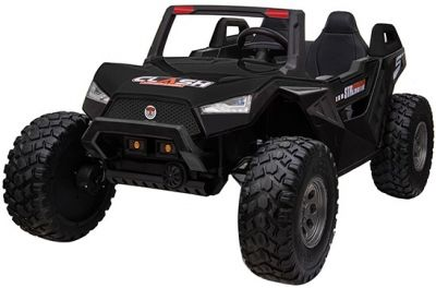 Accu Auto Monster Buggy 4X4 24V 2 Persoons Zwart MP4 Rubber Banden