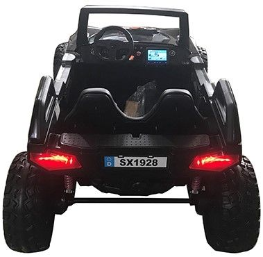 Accu Auto Monster Buggy 4X4 24V 2 Persoons Zwart MP4 Rubber Banden-3
