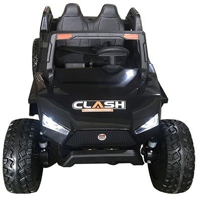 Accu Auto Monster Buggy 4X4 24V 2 Persoons Zwart MP4 Rubber Banden-1