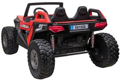 Accu Auto Monster Buggy 4X4 24V 2 Persoons Rood MP4 Rubber Banden-2