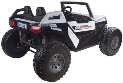 Accu Auto Monster Buggy 4X4 24V 2 Persoons Wit MP4 Rubber Banden-2