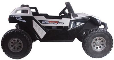 Accu Auto Monster Buggy 4X4 24V 2 Persoons Wit MP4 Rubber Banden-1