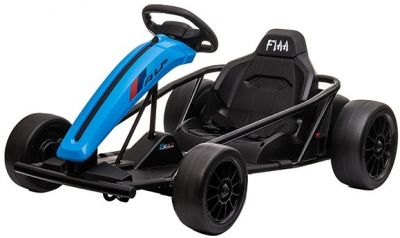 Accu Auto Drift Kart 24V Blauw Rubber Banden