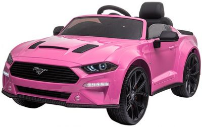 Accu Kinderauto Ford Mustang 24V Roze 2,4G Mp4 Rubber Banden