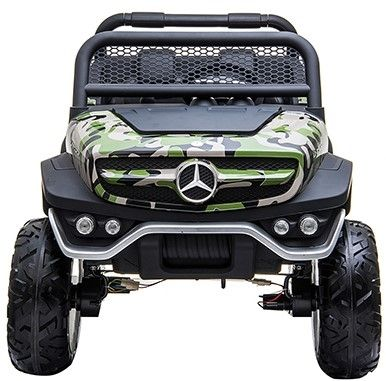 Accu Auto Mercedes Unimog 4X4 MP4-TV Camouflage 2 Persoons Rubber Banden-1