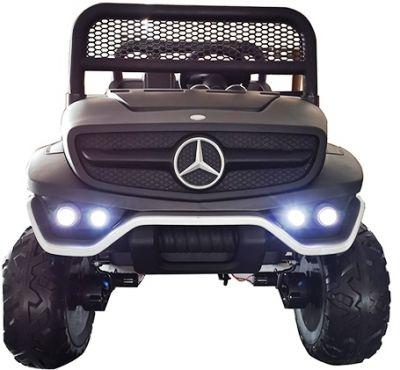 Accu Auto Mercedes Unimog 4X4 MP4-TV Mat Zwart 2 Persoons Rubber Banden-5