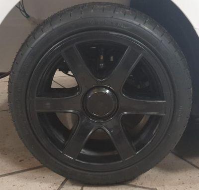 Accu Auto California 24V 2 Persoons Zwart Metallic Rubber Luchtbanden-5