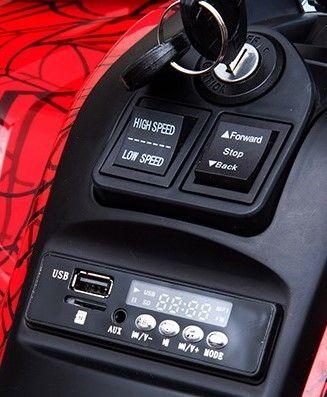 Accu Quad Mamba RED-SPIDER 12V Leder 2,4G Afst. Bed. Rubber Banden-3