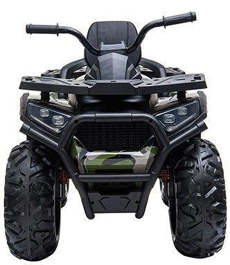 Accu Quad Mamba Camo-Groen 12V Leder rubber banden 2,4G Afst. Bed.