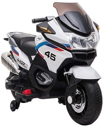 Accu Motor HP45 Wit 12V 2 persoons Rubber Banden Lederen zitting