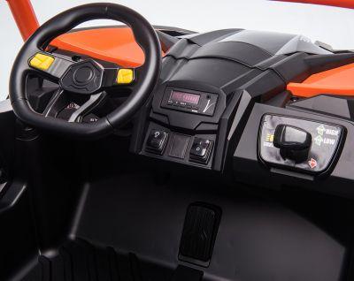 Accu Auto Mega Buggy 4X4 24V 2 Persoons Zwart MP4 Rubber Banden-4