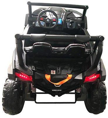 Accu Auto Mega Buggy 4X4 24V 2 Persoons Zwart MP4 Rubber Banden-2