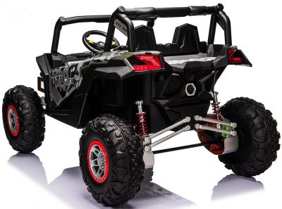 Accu Auto Mega Buggy 4X4 24V 2 Persoons Camouflage MP4 Rubber Banden-1