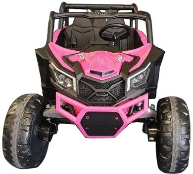 Accu Auto Mega Buggy 4X4 24V 2 Persoons Roze MP4 Rubber Band-3