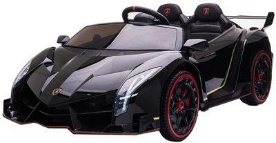 Elektrische Speelgoedauto Lamborghini Veneno 4X4 MP4 Zwart Metallic 2 Persoons