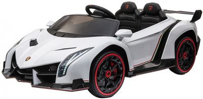 Elektrische Kinderauto Lamborghini Veneno 4X4 MP4 Wit 2 Persoons