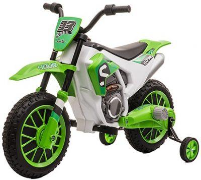 Kinder Accu Motor Cross Bike Rally Groen 12 volt