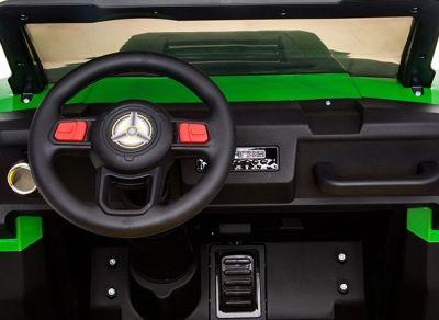 Accu Auto Truggy XL 4X6 Groen 12V 2-persoons Rubber Banden-1