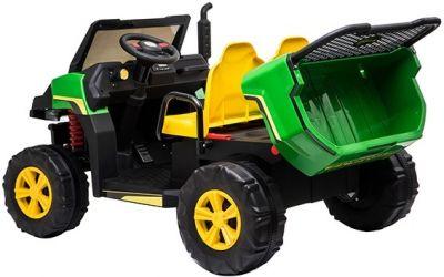 Accu Auto Truggy 4X4 Zwart 12V 2-persoons Rubber Banden-5
