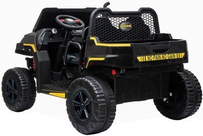 Accu Auto Truggy 4X4 Zwart 12V 2-persoons Rubber Banden-2