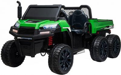 Accu Auto Truggy XL 4X6 Groen 12V 2-persoons Rubber Banden