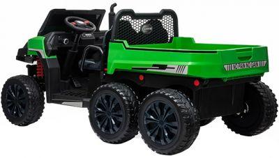 Accu Auto Truggy XL 4X6 Groen 12V 2-persoons Rubber Banden-3