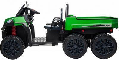 Accu Auto Truggy XL 4X6 Groen 12V 2-persoons Rubber Banden-2