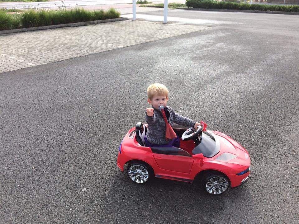 Tevreden chauffeurtje